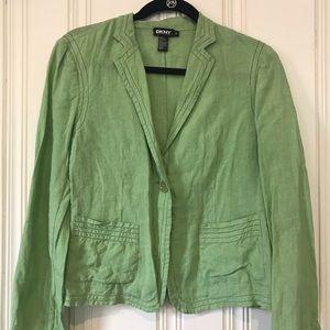 DKNY Green Linen Blazer size 8